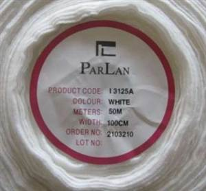 Parlan Fusible Wadding - White 1m wide