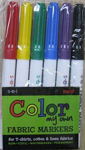 Color Fabric Markers - Bold