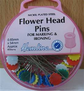 Flower/Flat Head Pins 25grm 47mm (approx 60)