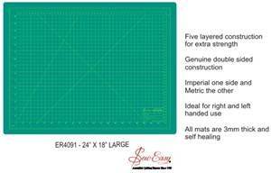 "Sew Easy Large Cutting Mat 600mm x 450mm (24"" x 18"")"