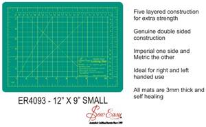 "Sew Easy Small Cutting Mat 300mm x 220mm (12"" x 9"")"