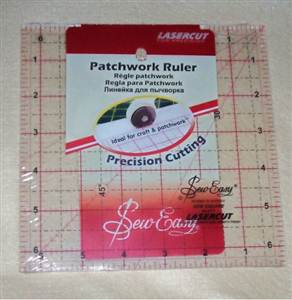 "Sew Easy Cutting Ruler 6.5"" x 6.5"""