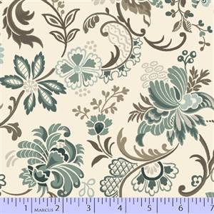 Uptown Duets - Large Floral on Cream