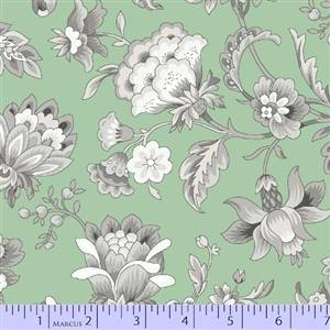 Gracious Skies - Large Flower on Mint Green