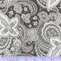 Gracious Skies - Paisley in Black and Grey