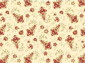 Classic Elegance - Small Floral on Cream
