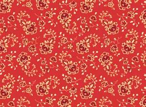 Classic Elegance - Small Floral on Red