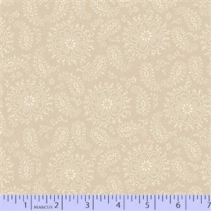 Cozies Flannel - Fine Paisley and Foral on Cream