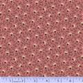 Cozies Flannel - Small Vine and Flower on Dusty Pink