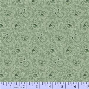 Cozies Flannel - Green Floral Tone on Tone