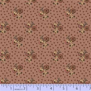 Cozies Flannel - Double Flower on Pink Dots