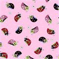 Lazy Little Ladybugs - Bugs on Pink