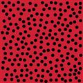 Lazy Little Ladybugs - Black Dots on Red