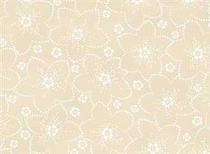 Bed of Roses - Ivory Dotted Flower