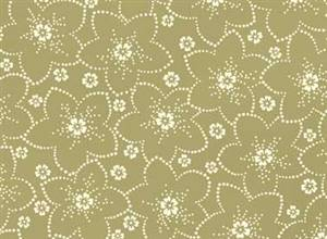 Bed of Roses - Olive Dotted Flower