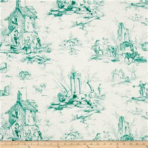 Teal Toile
