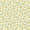 Flos Little Flowers - Yellow Flower on Cream