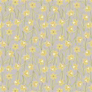 Flos Little Flowers - Yellow Flower on Grey