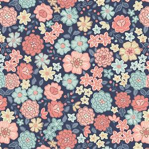 Flos Little Flowers - Multi on Blue