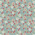 Flos Little Flowers - Flower Heads on Lt Blue