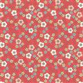 Flos Little Flowers - Flower Heads on Red