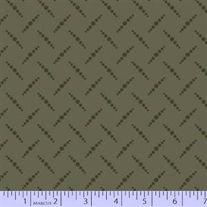 San Mateo - Green Herringbone Dots
