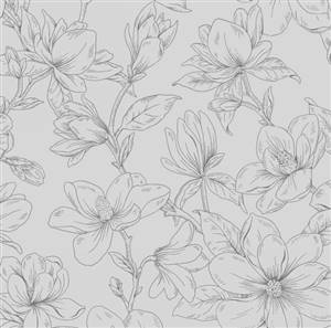 Blossom Vine - Flower Pale Grey