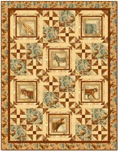 Out Of Africa Quilt Kit