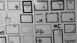 Quilt Labels - Black on White