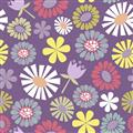 Pippit Moseby - Large Flowers Purple