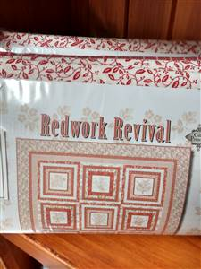 Redwork Revival Quilt Kit