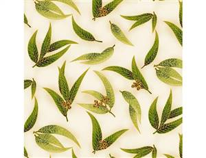 UTAS Gum Leaves Green Ivory
