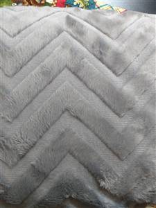 Minkee - Charcoal Solid - Chevron