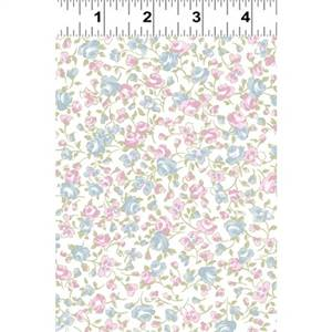 Madeline - White Small Packed Floral
