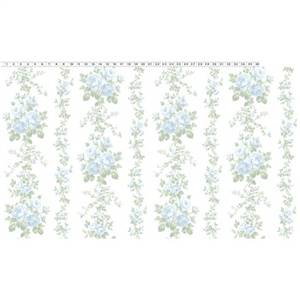 Madeline - White Large Floral Stripe