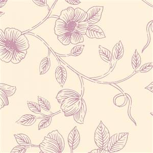 Aviary - Pink Floral on Cream