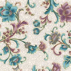 Villa Romana - Pink Aqua on Cream