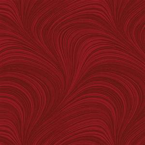 Wave Texture - 2.75m wide - Medium Red